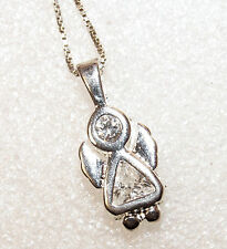 """Sterling Silver 925 Adorable CZ Angel Pendant with 18"""" boxed Chain Necklace"""