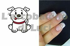 20 PEGATINAS PARA UÑAS PERRITO BLANCO PERRO WHITE DOG NAIL ART NAILS STICKERS