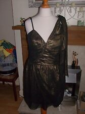 LIPSY LADIES GOLD DRESS UK SZ 10