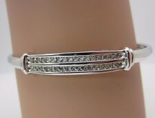 14K White Gold Diamond Bangle Bracelet 0.54 CTW