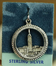 VINTAGE CLEVELAND TERMINAL TOWER .925 STERLING SILVER PENDANT/CHARM KENNY