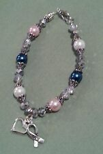 Breast, Colon and Lung Cancer awareness bracelet