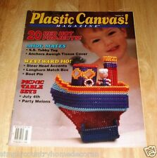 PLASTIC CANVAS MAGAZINE~Vintage Issue July-August 1993~No. 27~FREE SHIP