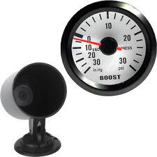 """Car Motor Vehicle Black Face 2"""" 52mm Pointer Boost Gauge Psi In.Hg Meter + Pod"""