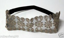 wide-brimmed lace black woman's lady's new head wrap Hair band headband pretty
