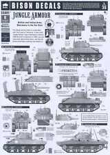 Bison Decals 1/35 JUNGLE ARMOR BRITISH & INDIAN SHERMANS IN THE FAR EAST