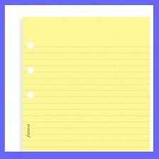 Filofax Pocket Size Yellow Ruled Lined Note Paper Refill Insert 213010