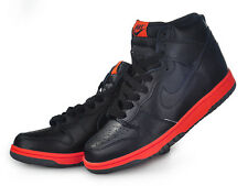 2008 Nike Dunk High Premium SZ 9 Black Red Hot Lava Tennis Pack SB QS 344648-002