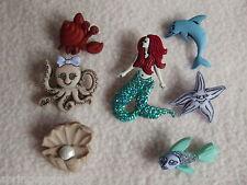 Vestirla Botones ~ Sirenas ~ Octopus ~ peces ~ Sirena ~ Dolphin ~ de cuento de hadas