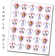 Sofia the First personalized stickers birthday party favors labels