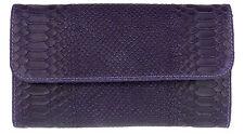 Snake Print Genuine Suede Clutch Bag Italian Leather Evening Compact Handbag