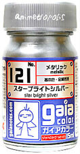 GAIA COLOR 121 Star Bright Silver GUNDAM MODEL KIT LACQUER PAINT 15ml NEW