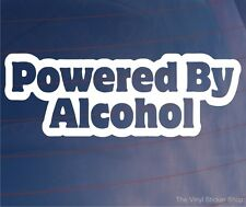 POWERED BY ALCOHOL Funny Car/Van/Truck/Window/Bumper Vinyl Sticker/Decal