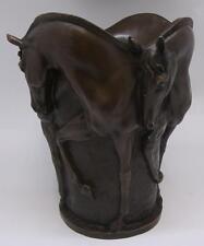 Florero De Bronce Calidad impresionante/Urna-cuatro caballos