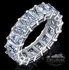 10.5 ct Briliant Radiant Eternity Ring Top CZ Imitation Moissanite Simulant SS11