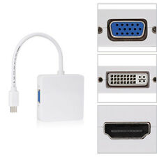 3 in 1 Mini DP Displayport Thunderbolt to HDMI DVI VGA Adapter for notebook