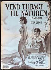 R309 UNASHAMED Danish '53 great naked Wenzel art,  filmed in a nudist camp