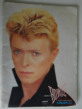 David Bowie Serious Moonlight 1983 tour Programme