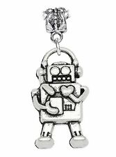 Robot Heart Electronic Toy Hobby Dangle Charm fits Silver European Bead Bracelet