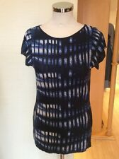 Aldo Martins Knitted Top Size 18 BNWT Navy, Blue, Winter White RRP £98 NOW £44
