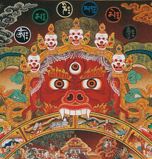 "26"" BLESSED TIBETAN THANGKA PAINTING POSTER:SAMSARA BHAVACHAKRA,WHEEL OF LIFE"