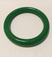 Feng Shui Protection Green Faux Jade Glass Bracelet Bangle