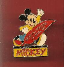 Pin's pin DISNEY LE JOURNAL DE MICKEY RESEAU PRESSE 12 AVRIL 1992