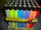 FULL SIZED 8 PASTEL/COLOURED CLIPPER LIGHTERS IN CHOICE OF ELECTRONIC OR FLINT 8