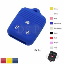 Silicone Cover fit for FORD MAZDA MERCURY Remote Key Case 3 Button Hollowed DB