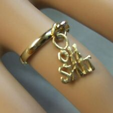 9 ct GOLD  new rude charm ring or  toe ring