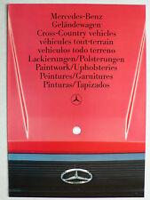 Prospekt Mercedes Geländewagen - Lackierungen / Polsterungen, 5.1986, 4 Seiten