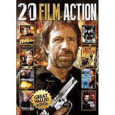 20 Film Action Vol. 4 DVD, 2014, 4-Disc Set Chuck Norris/Steven Seagal