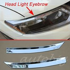 Head Light Eyebrow Cover Chrome Front Lamp Trim FOR 2014 2015 Nissan X-Trail T32