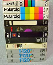 LOT 11 USED BLANK VHS TAPES 6 HR RECORDED THE WORLD TOMORROW HERBERT ARMSTRONG