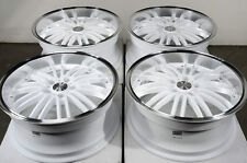 18 5x112 Rims White Deep Dish Fits Mercedes E500 S350 CLK550 Audi 5 Lug Wheels
