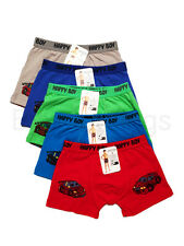 5pc Size 5 4-6 years Comfort Cars Cotton Boys Boxers Briefs Cars Kids Underwear