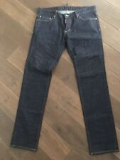 ORIGINALE DSQUARED d2 tg. 52 34 JEANS PANTALONI BLU IN ACCIAIO INOX 499 € come nuovo AUTHENTIC