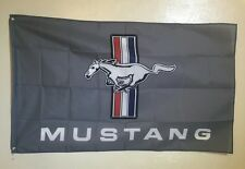 Ford Mustang Logo 3x5 Flag Banner Muscle Car Show Garage FREE SHIPPING
