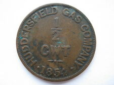 Huddersfield Gas Company 1854 token for 1/2 Cwt