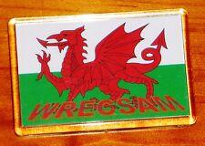 Wrecsam Cymru Wales y ddraig goch red dragon flag Wrexham fridge magnet