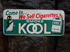 Vintage Kool Cigarettes Store Advertising Embossed Metal Tin Sign Tobacciana