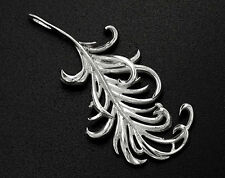 925 Sterling Silver Feather Pendant  14x30 mm.
