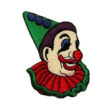 ID 0119 Circus Clown Patch Laughing Jester Embroidered Iron On Applique