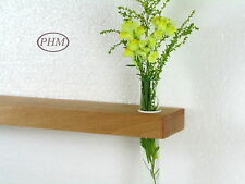 Mini Wandregal + Reagenzglas Vase Buche 30cm Wandvase Regal Wandboard Board