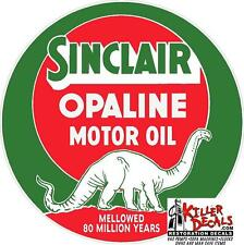 "10"" SINCLAIR OPALINE LUBSTER OIL CAN GASOLINE GAS DECAL"