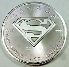2016 Canada / Canadian Superman Shield Man of Steel 1 oz .999 Fine Silver Coin