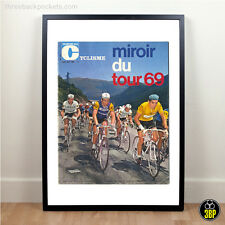Grand tour de france 1969 magazine cover imprimer, eddy merckx, eroica, cyclisme