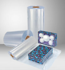 """8""""  500 Ft 75 Gauge PVC Heat Activated Shrink Wrap Film ,Clear Centerfold"""