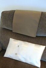 LARGE Chair Back Slip Arm Cover Cap Antimacassar Sofa Armchair Protector BROWN
