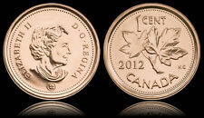 4 X Canadian 1 cent penny coin 2011 & 2012 Canada - From mint rolls